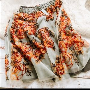 Anthropologie Not So Serious MP circle skirt NWT